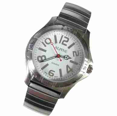 Mens Band Watch - Bold Silver Expansion
