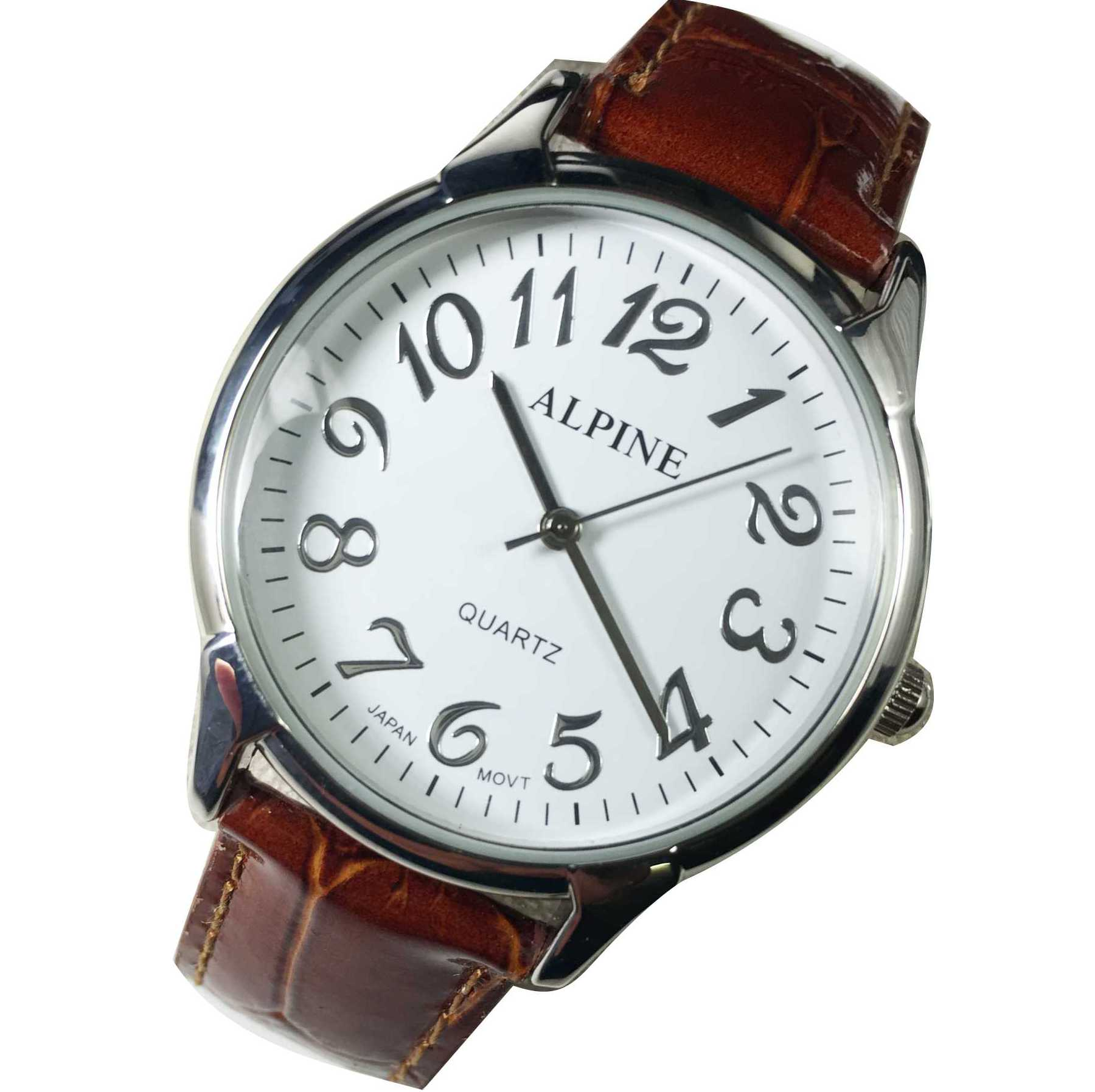 Mens Band Watch - Brown Leather