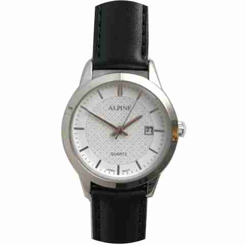 Mens Band Watch -White with Date
