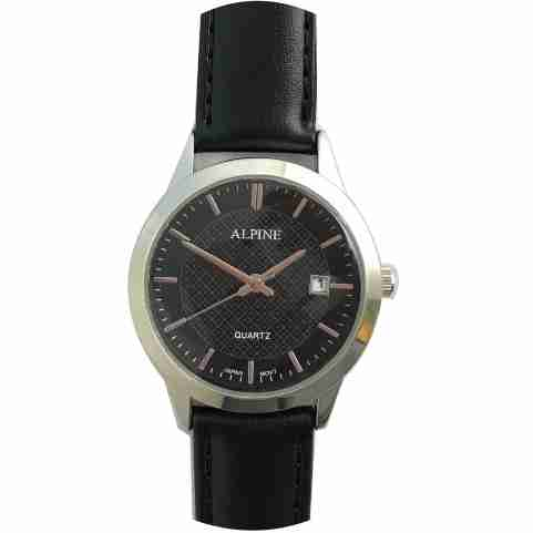 Mens Band Watch -Black with Date