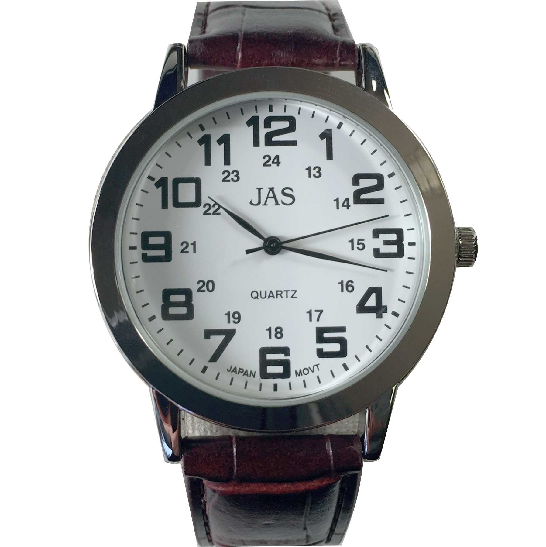 Mens Band Watch -Brown Leather