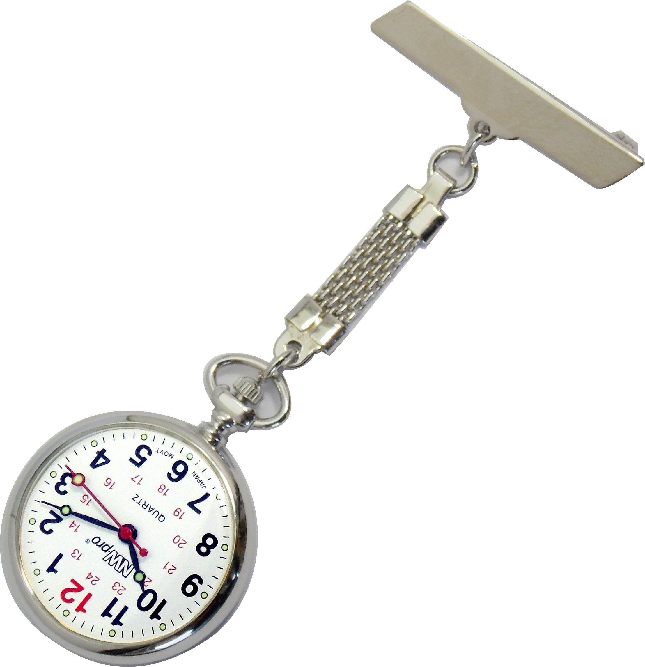 Nurses Pinned Watch - Nw-pro Braided - Silver - White