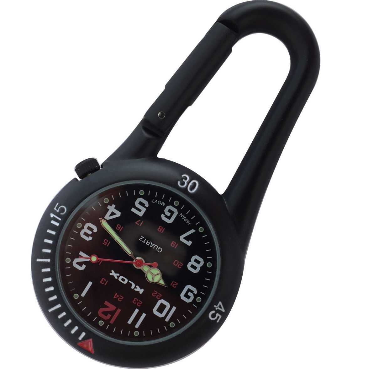 Health Care Belt FOB Watch - Black/Black Dial