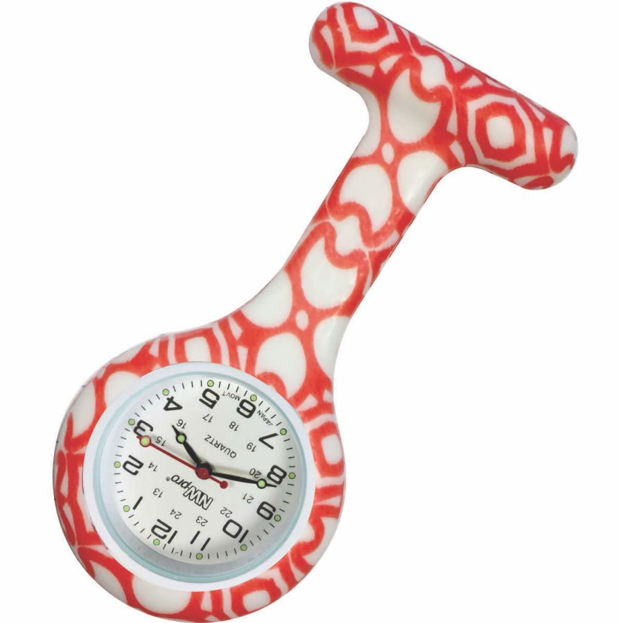 Nurse Pin Watch Silicone Printed Lattice