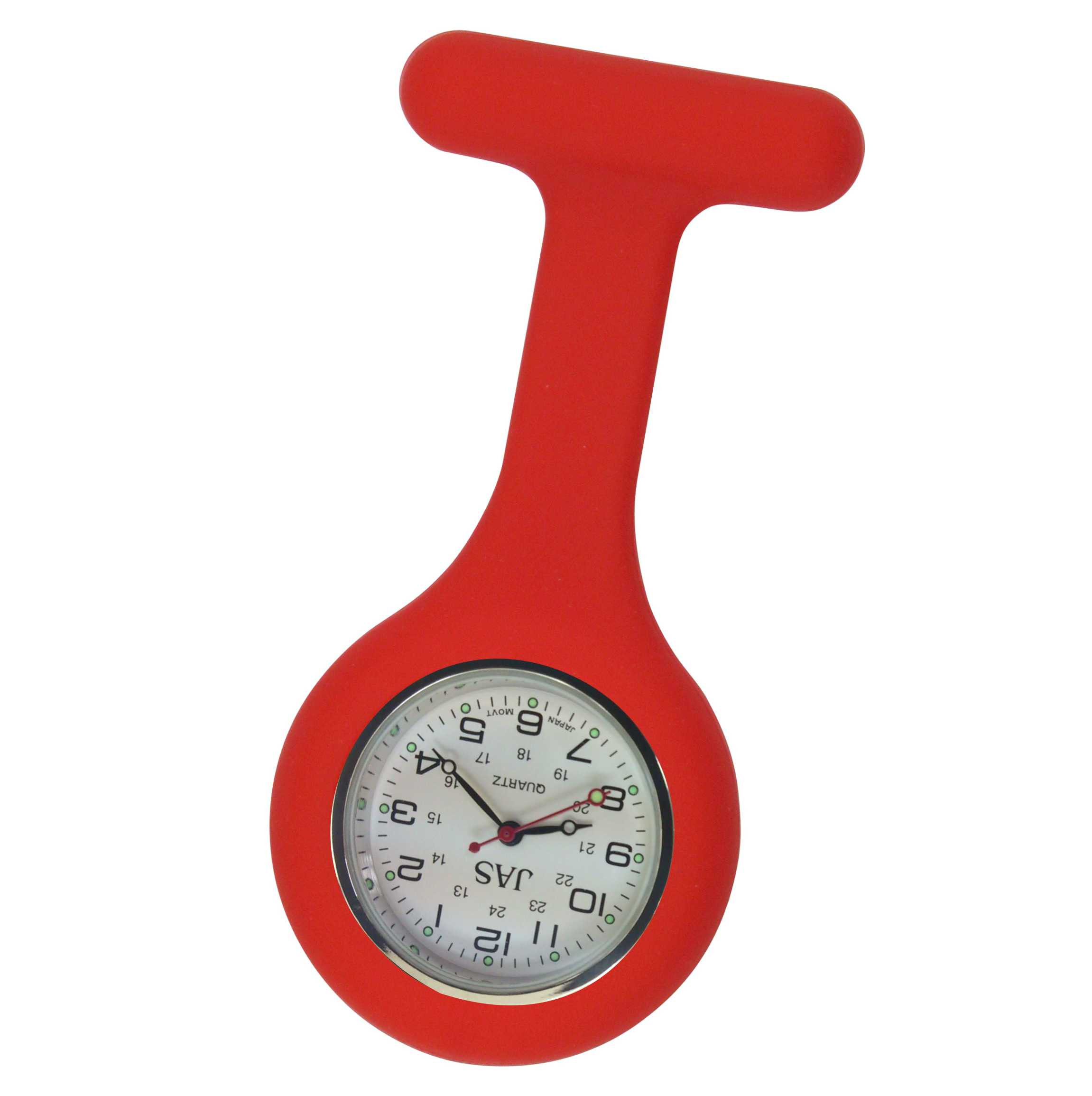 Nurse Pin Watch Silicone Red