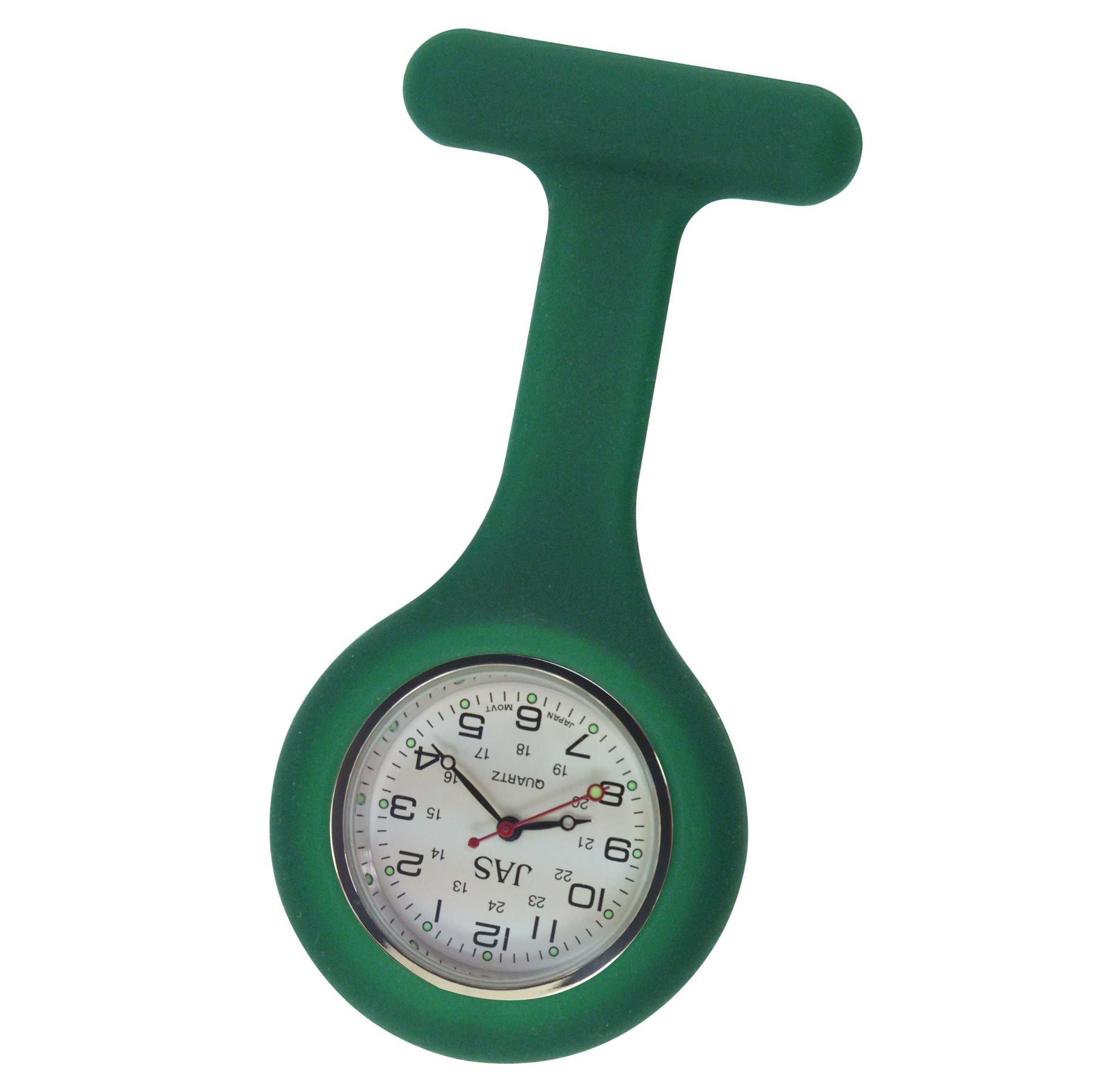 Nurse Pin Watch Silicone Green