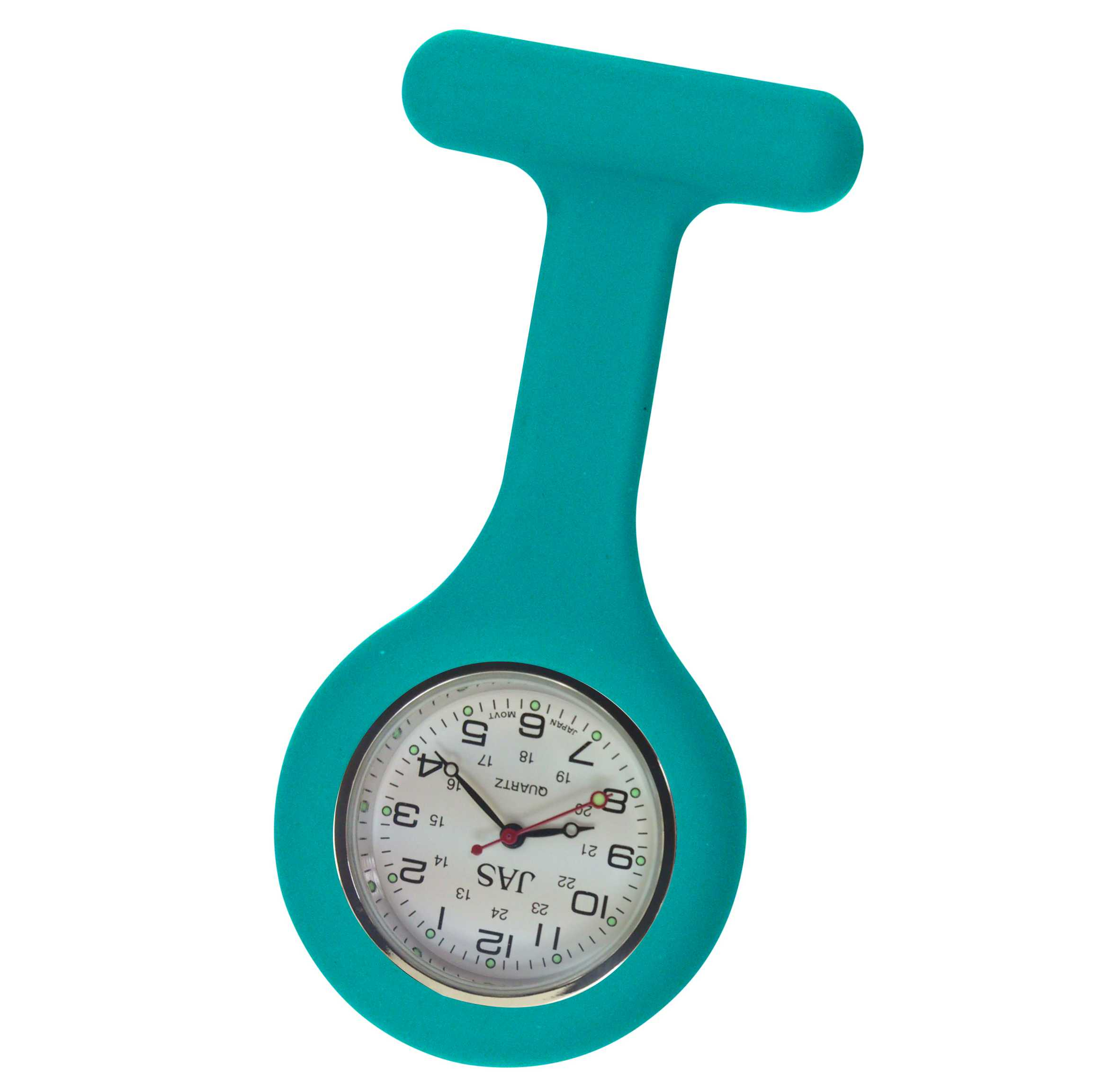 Nurse Pin Watch Silicone Teal
