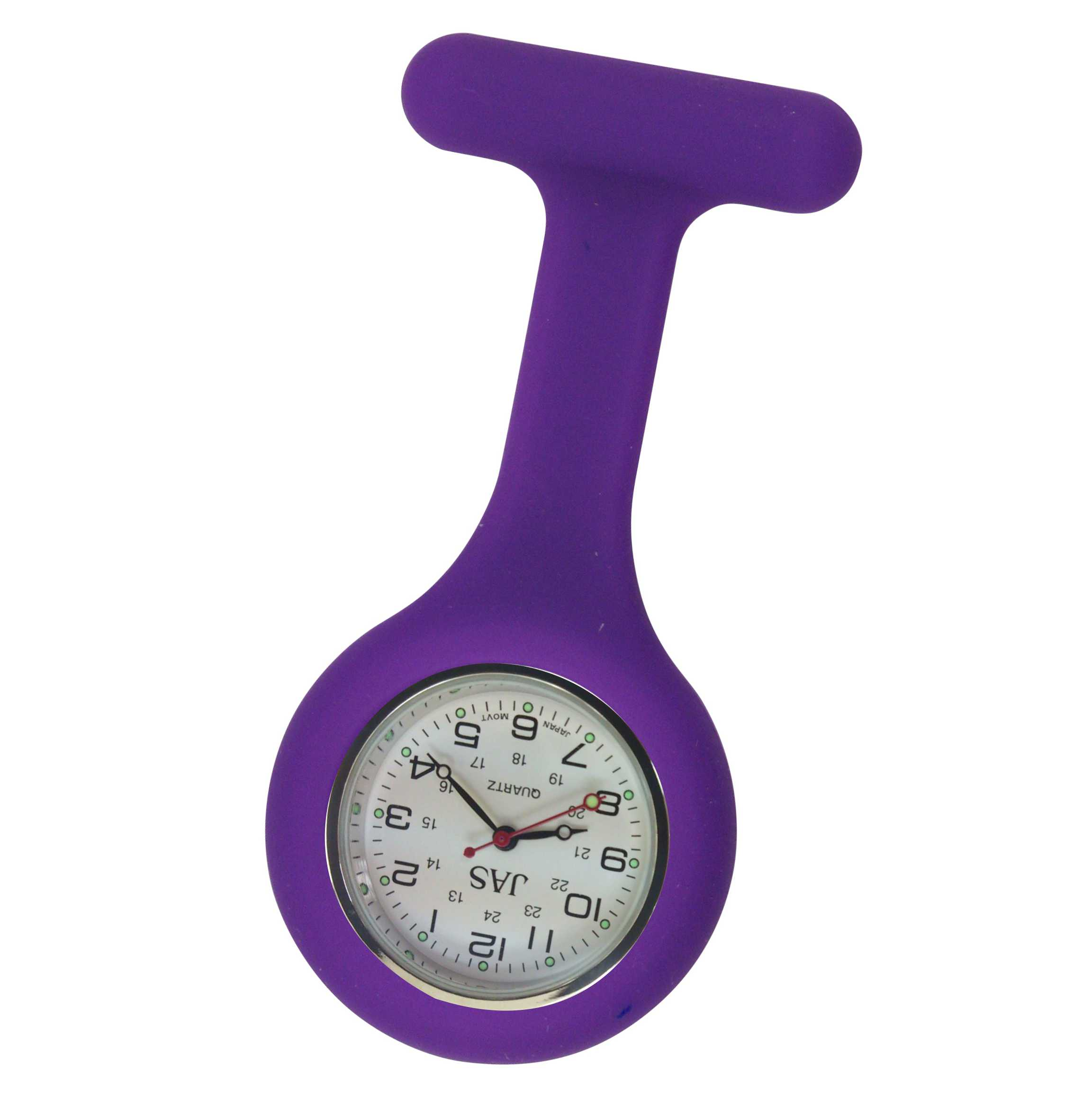 Nurse Pin Watch Silicone Purple