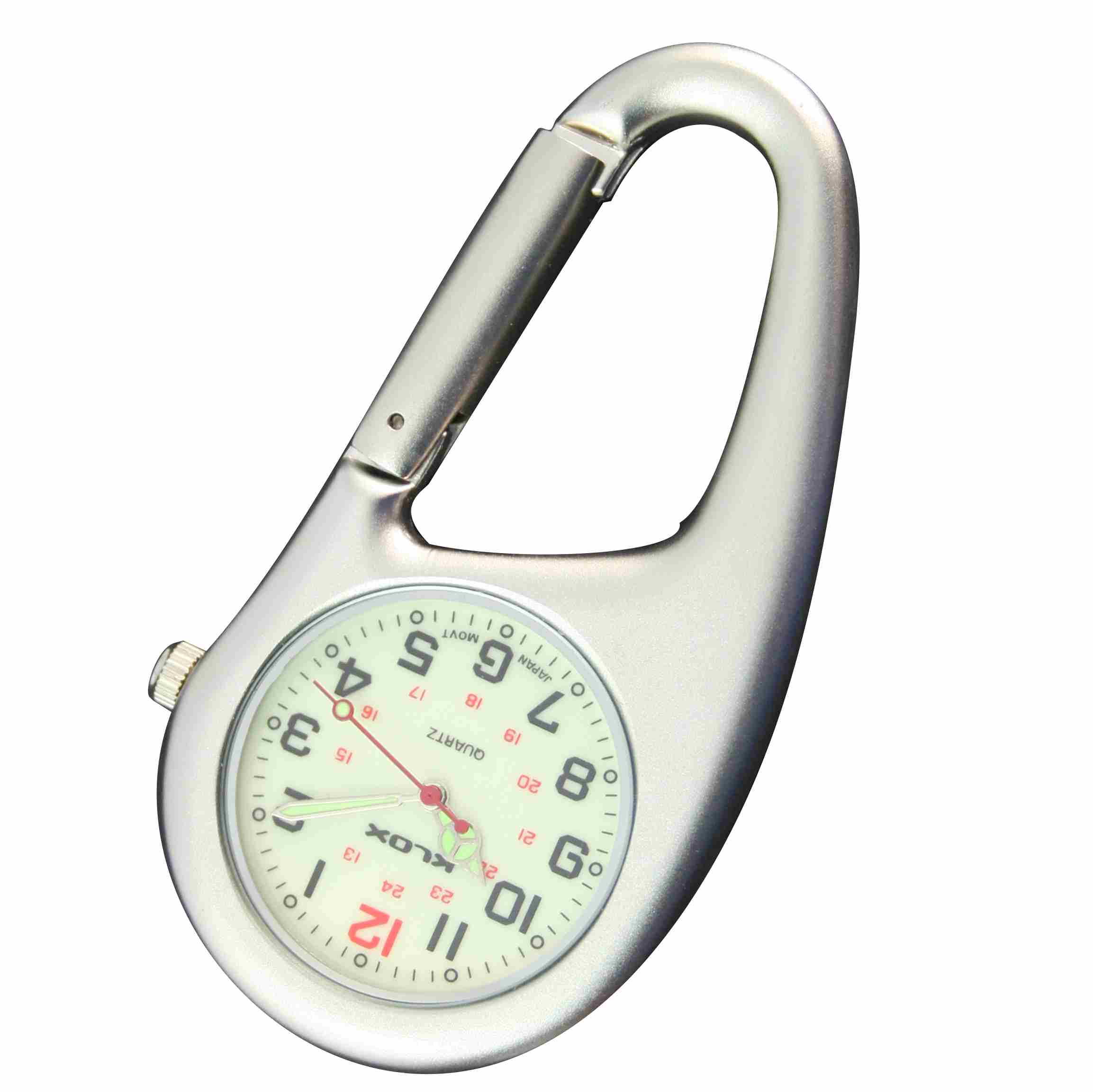 Health Care Belt FOB Watch - Brushed Silver Luminescent
